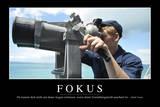 Fokus: Motivationsposter Mit Inspirierendem Zitat