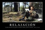 Relajación Cita Inspiradora Y Póster Motivacional