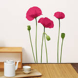Pink Poppy Mini Wall Decals