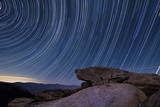 Star Trails and a Granite Rock Outcropping Overlooking Anza Borrego Desert State Park