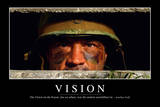 Vision: Motivationsposter Mit Inspirierendem Zitat