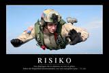 Risiko: Motivationsposter Mit Inspirierendem Zitat