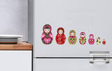 Russian Dolls Mini Window or Appliance Decal Stickers