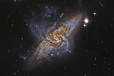Ngc 3314  a Pair of Overlapping Spiral Galaxies