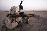 US Marine Provides Security at Camp Bastion  Afghanistan
