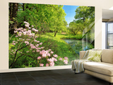 Park In The Spring Wall Mural