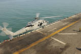An Mh-60S Sea Hawk Lands on the Flight Deck of USS Bonhomme Richard