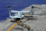 Marines Board an MV-22 Osprey on the Flight Deck of USS Bonhomme Richard
