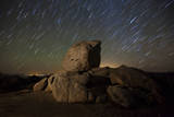 Star Trails and Large Boulders Anza Borrego Desert State Park  California