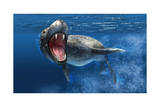 Leopard Seal Swimming Underwater Showing its Sharp Teeth