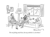 """I'm not feeling much love  but my arthritis is a lot better"" - New Yorker Cartoon"