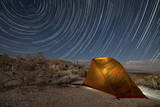 Star Trails Above a Campsite in Anza Borrego Desert State Park  California
