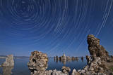 Moonlight Illuminates the Tufa Formations at Mono Lake  California
