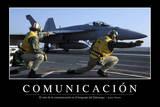 Comunicación Cita Inspiradora Y Póster Motivacional