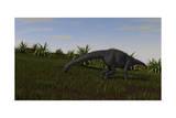 Brachiosaurus Grazing in a Grassy Field
