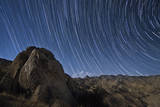 Star Trails Above the San Ysidro Mountains  California