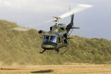 An Italian Air Force Ab-212 Ico Helicopter Departs the Landing Zone  Italy