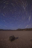 Star Trails at the Racetrack Playa in Death Valley National Park  California