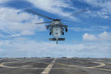 A US Navy Mh-60S Seahawk Helicopter Prepares to Land