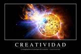 Creatividad Cita Inspiradora Y Póster Motivacional