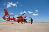 An Mh-65C Dolphin Helicopter of the US Coast Guard