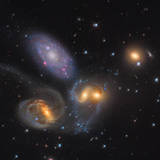 Stephan's Quintet  a Grouping of Galaxies in the Constellation Pegasus
