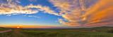 Panoramic View of Sunset at Reesor Ranch  Near Cypress Hills  Alberta  Canda