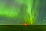 The Northern Lights as Seen from the Wintering Hills Wind Farm  Alberta  Canada