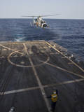 A Chinese Harbin Z-9C Helicopter Lands Aboard USS Mason