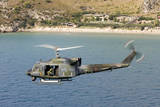 Italian Air Force Ab-212 Ico Helicopter in Flight over Italy