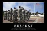 Respekt: Motivationsposter Mit Inspirierendem Zitat