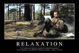 Relaxation: Citation Et Affiche D'Inspiration Et Motivation