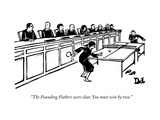 """The Founding Fathers were clear You must win by two"" - New Yorker Cartoon"