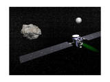 Dawn Robotic Spacecraft Orbiting Ceres and Vesta