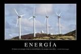 Energía Cita Inspiradora Y Póster Motivacional