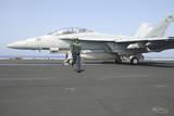 An F-A-18F Super Hornet Prepares to Launch