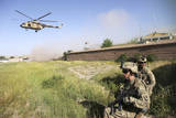 US Army Soldiers Secure a Landing Zone for Afghan Air Force Mi-17'S