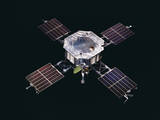 The Mariner 5 Spacecraft Against a Black Background
