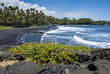 Punaluu Black Sand Beach on Big Island  Hawaii  United States of America  Pacific