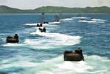 Amphibious Assault Vehicles Approach Hat Yao Beach  Thailand