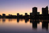Oakland Skyline and Lake Merritt  Oakland  California  United States of America  North America