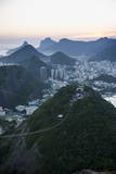 View from the Sugarloaf and the Famous Cable Car at Sunset  Rio De Janeiro  Brazil  South America