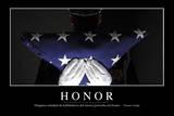 Honor Cita Inspiradora Y Póster Motivacional