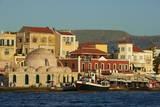 Venetian Port and Turkish Mosque  Chania  Crete  Greek Islands  Greece  Europe