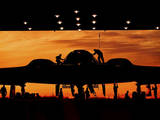 Service Members Undergo Maintenance on a B-2 Spirit