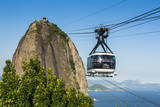 Famous Cable Car Leading Up to the Sugarloaf in Rio De Janeiro  Brazil  South America