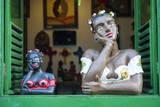 Traditional Puppets in a Window in Sao Joao Del Rei  Minas Gerais  Brazil  South America