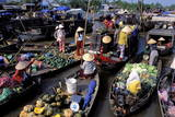 Floating Market of Cai Rang  Can Tho  Mekong Delta  Vietnam  Indochina  Southeast Asia  Asia