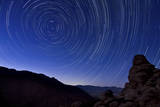 Star Trails from a Vista in Anza Borrego Desert State Park  California