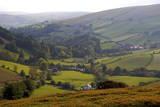 Landscape in Powys  Wales  United Kingdom  Europe